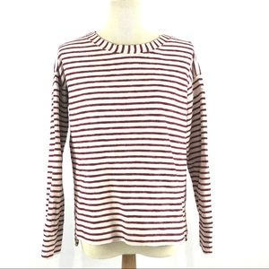 ❤️Madewell ivory red stripe Surfbreeze top XS